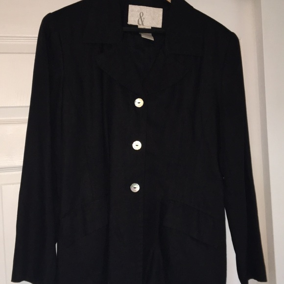 a17b838f88 81st   Park Jackets   Blazers - Women s 81st   Park Black Linen Blazer
